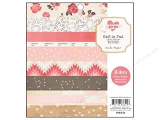 Crate Paper inches: Crate Paper Pad 6 x 6 in. Kiss Kiss 36 pc.