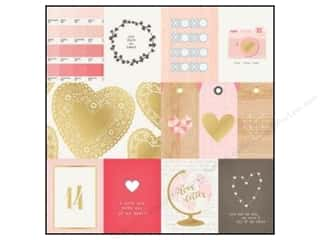 Wood Love & Romance: Crate Paper 12 x 12 in. Paper Kiss Kiss Cut-Out Gold (15 pieces)