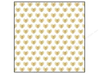 Printing Translucent: Crate Paper 12 x 12 in. Paper Kiss Kiss Vellum Gold Heart (15 pieces)