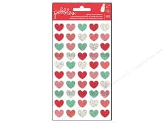 Pebbles Inc New: Pebbles We Go Together Collection Stickers Glitter Hearts