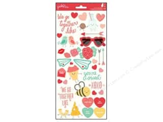 New Love & Romance: Pebbles We Go Together Collection Stickers Icons & Phrases