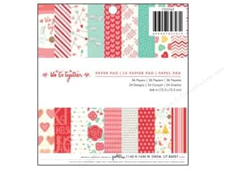 "Pads Love & Romance: Pebbles We Go Together Collection Paper Pad 6""x 6"""