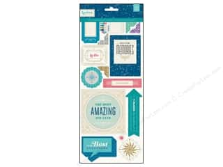 BasicGrey Chipboard Shapes Stickers Aurora