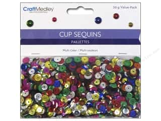 Sequins Green: Multicraft Cup Sequins 50gm Assorted Size Multi Color