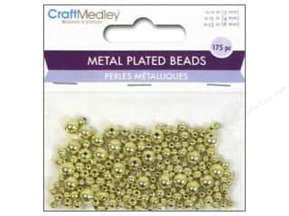 Multicraft Beads Metal Plated Round 3/4/6mm Gold