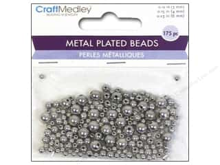 Beads $3 - $4: Multicraft Beads Metal Plated Round 3/4/6mm Silver