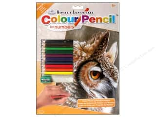 Pencils Royal Colour Pencil by Number: Royal Colour Pencil by Number Sepia Owl
