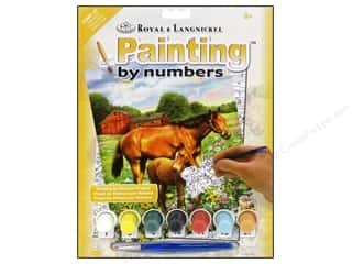Weekly Specials Paint: Royal Paint By Number Kit Horse In Field