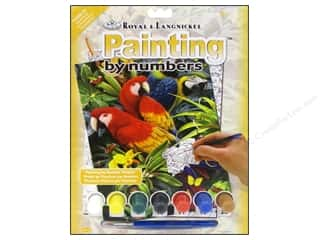 Clearance Royal Paint Artist Acrylic: Royal Paint By Number Kit Majestic Macaws