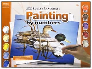 Royal Rub Ons Art, School & Office: Royal Paint By Number Adult Large Blue Water Mallards