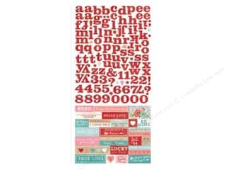 Valentine's Day ABC & 123: Simple Stories Hugs & Kisses Collection Sticker Expressions (12 sets)