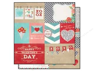 "Love & Romance $3 - $6: Simple Stories Hugs & Kisses Collection Paper 12""x 12"" Element #1 (25 pieces)"