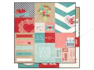 "Pattern $2-$4 Clearance : Simple Stories Hugs & Kisses Collection Paper 12""x 12"" Element #2 (25 sheets)"