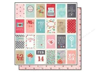 Simple Stories Hugs & Kisses Paper 12x12 Love Ltr (25 piece)