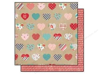 Simple Stories Hugs & Kisses Paper 12x12 Heartthrb (25 piece)