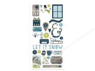 Simple Stories Snow Fun Sticker Fundamentals (12 set)
