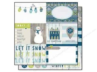 "Snow Texture $3 - $4: Simple Stories Snow Fun Collection Paper 12""x 12"" Elements #1 (25 pieces)"