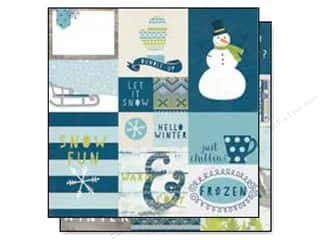 "Snow Texture $2 - $4: Simple Stories Snow Fun Collection Paper 12""x 12"" Elements #2 (25 pieces)"