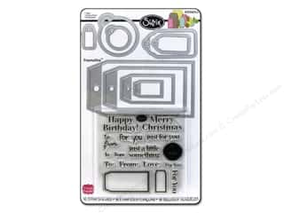 Clips Birthdays: Sizzix Dies Stephanie Barnard Framelits Die/Stamp Tags