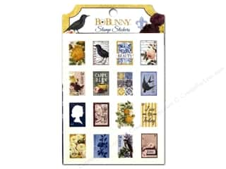 New Burgundy: Bo Bunny Stickers Rose Cafe Stamp