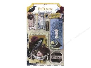 New Burgundy: Bo Bunny Layered Chipboard Stickers Rose Cafe