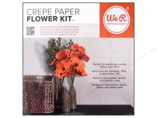 We R Memory Kits Crepe Paper Flowers Orange