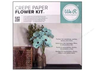 Papers Blue: We R Memory Kits Crepe Paper Flowers Teal