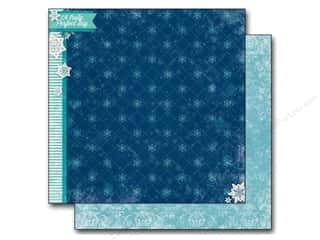 Winter Wonderland Printed Cardstock: Bo Bunny 12 x 12 in. Paper Altitude Chilly (25 sheets)