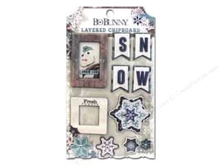 Chipboard Winter: Bo Bunny Layered Chipboard Stickers Altitude