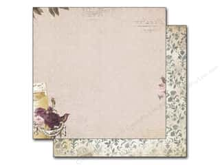 New Burgundy: Bo Bunny 12 x 12 in. Paper Rose Cafe (25 pieces)