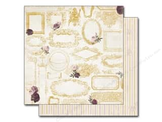New Burgundy: Bo Bunny 12 x 12 in. Paper Rose Cafe Frames (25 pieces)