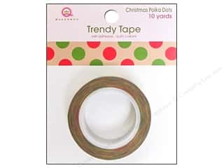 Queen&Co Trendy Tape 10yd Christmas PolkaDot Kraft