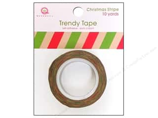 Queen&Co Trendy Tape 10yd Christmas Stripe Kraft