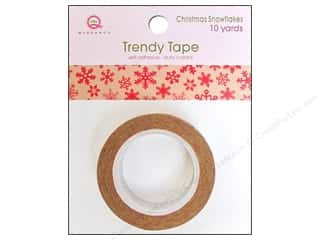 Queen&Co Trendy Tape 10yd Christmas Snowflk Kraft