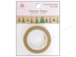 Queen&Co Trendy Tape 10yd Christmas Trees Kraft