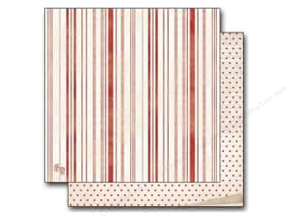 Stars Valentine's Day: Bo Bunny 12 x 12 in. Paper Star-Crossed Collection Stripe (25 pieces)