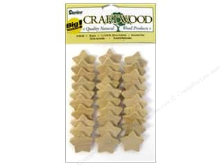 "Darice Wood Craftwood Rounded Star 1"" 30pc"
