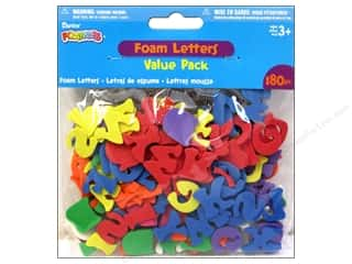 Basic Components ABC & 123: Darice Foamies Shape Letter Value Pack 180pc