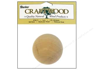 Darice Wood Craftwood Ball Knob 2""