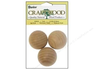 "Darice Wood Craftwood Ball Knob 1.25"" 3pc"