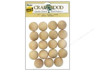 "Woodworking Projects & Kits: Darice Wood Craftwood Round Ball 1"" 19pc"