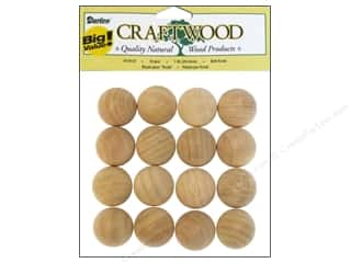 "Darice Wood Craftwood Ball Knob 1"" Big Value 16pc"