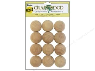 "Darice Wood Craftwood Ball Knob 1.25"" Value 12pc"