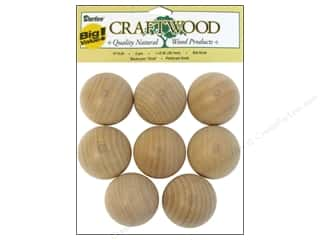 "Ornaments $5 - $15: Darice Wood Craftwood Ball Knob 1.5"" Big Value 8pc"