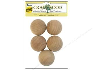 "Hardware Gifts: Darice Wood Craftwood Ball Knob 1.75"" Big Value 5pc"