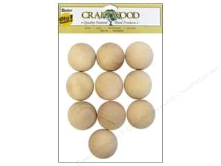 "Ornaments $5 - $15: Darice Wood Craftwood Round Ball 1.5"" 10pc"