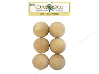 "Darice Wood Craftwood Round Ball 1.75"" 6pc"