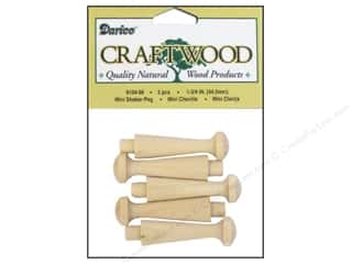 "Darice Wood Craftwood Shaker Peg Mini 1.75"" 5pc"