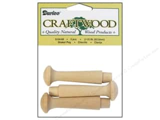 "Darice Wood Craftwood Shaker Peg 2.5"" 3pc"