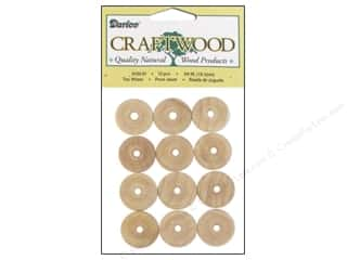 "Woodworking Toys: Darice Wood Craftwood Toy Wheel .75"" 12pc"